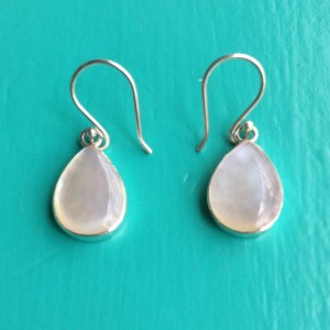 Mother of Pearl small Teardrop Earrings
