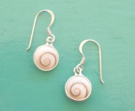 Shiva Eye 8mm round drop earrings