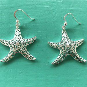 Filigree Starfish Drop Earrings