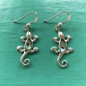 Gecko Abalone Drop Earrings