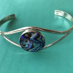 Sterling Silver Abalone Bangle