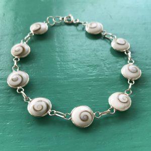 Shiva Eye Sterling Silver Bracelet