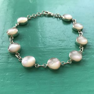 Mother of Pearl Sterling Silver Bracelet