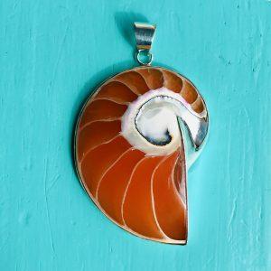Nautilus Pendant large Orange