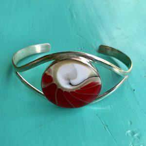 Nautilus Round Red Bangle