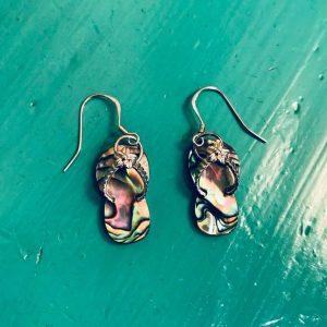 Abalone Flip Flop Earrings