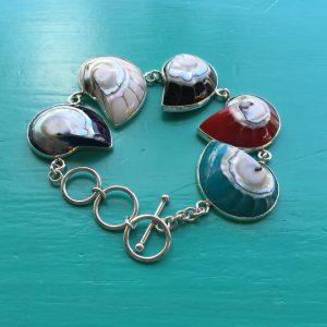 Multi Coloured Nautilus Bracelet