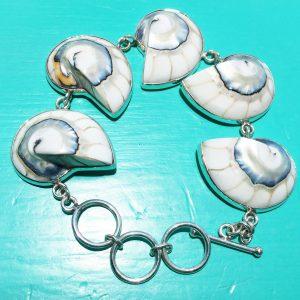 White Nautilus Bracelet
