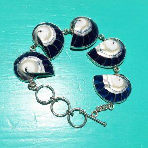 Blue Nautilus Bracelet