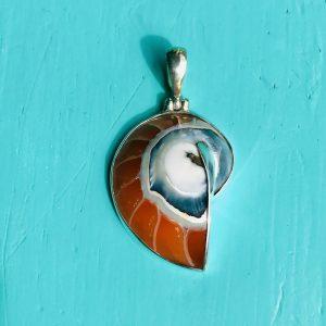 Nautilus Pendant small Orange
