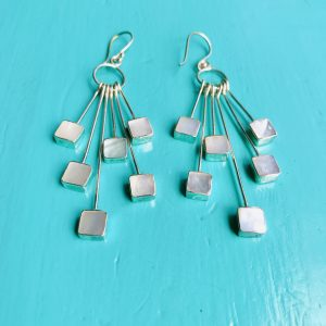 Mother of Pearl Multi Squares Earrings
