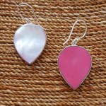 Mother of Pearl Teardrop Earrings two sided
