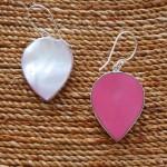 Mother of Pearl Teardrop Earrings two sided