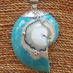 Nautilus Pendant large Turquoise
