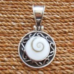 Shiva Eye Pendant with Fancy Silver