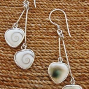 Shiva Eye Double Heart Drop Earrings