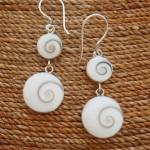 shiva eye double odd drop earrings