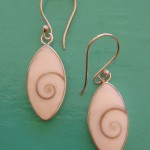 Small Oval shaped Shiva Eye drop Earrings