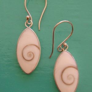 Small Oval shaped Shiva Eye drop Earrings