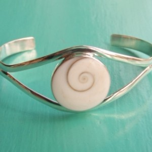 Sterling Silver Shiva Eye Bangle