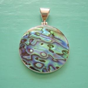 Abalone Round Pendant