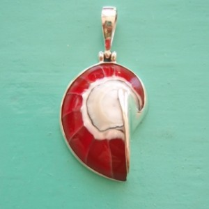 Nautilus Pendant small Red