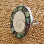 handcrafted large oval ring