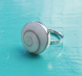 Round Shiva Eye Ring