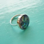 Round Abalone Ring