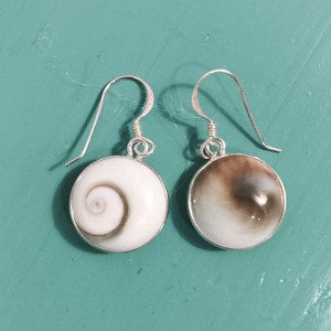 Shiva eye Round Drop Earrings