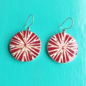 Red Star Shell Earrings
