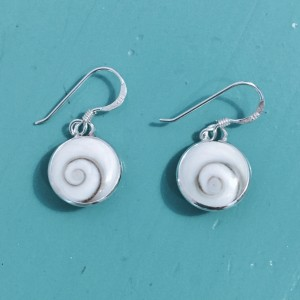 Shiva eye 11mm round drop earrings