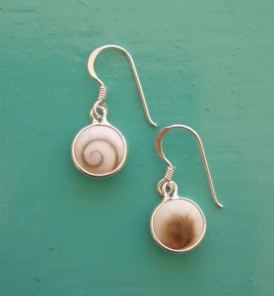 Shiva Eye 8mm round drop earrings