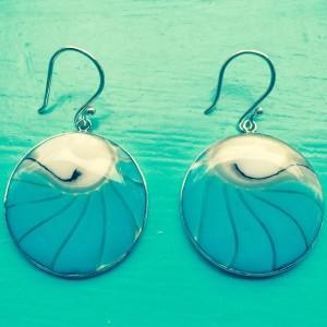 Nautilus Round Turquoise Earrings