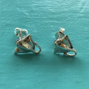Stingray Sterling Silver Stud Earrings