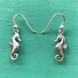 Sterling Silver Seahorse Drop Earrings