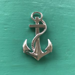 Large Sterling Silver Anchor Pendant