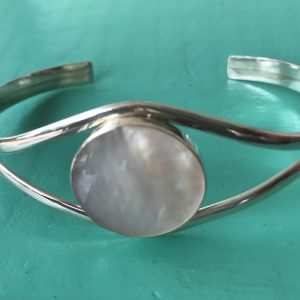 Sterling Silver Mother of Pearl Bangle