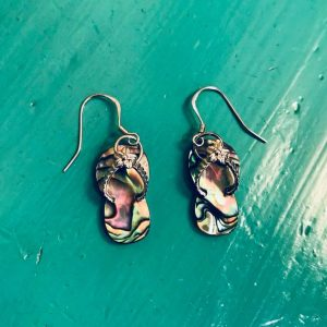 Abalone Flip Flop Earrings