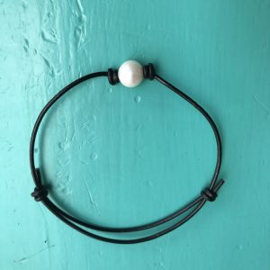Pearl Leather Bracelet