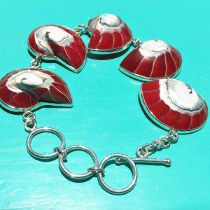 Red Nautilus Bracelet