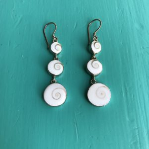 Shiva Eye 3 Round Drop Earrings