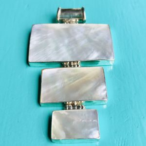 Mother of Pearl 3 Rectangles Large Pendant