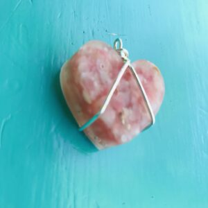 Pink Sand Heart pendant